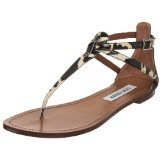 Steve Madden Women&#8217;s Serrious T-Strap Sandal &#8211; Cow Print
